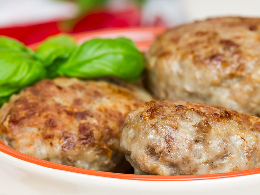 Meatballs in a Baking Tin